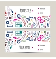 Makeup artist business card Invitation template