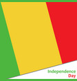 mali independence day vector image vector image