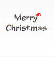 merry christmas text with cloud and santa claus vector image vector image