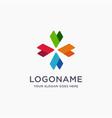 modern abstract minimalist company logo icon vector image