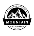 Mountain logo emblem Adventure retro vector image
