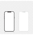new version black and white slim smartphone vector image vector image