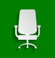 office chair sign paper whitish icon with vector image