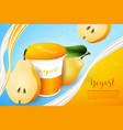 pears yogurt ads template background vector image vector image