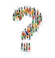 people group question shape crowd people question vector image