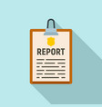 police report clipboard icon flat style vector image