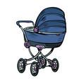 pram bacarriage stroller perambulator buggy vector image vector image
