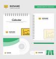 presentation logo calendar template cd cover vector image vector image