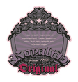 Retro floral label vector | Price: 1 Credit (USD $1)