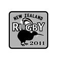 rugby ball kiwi new zealand 2011 vector image vector image