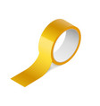 scotch yellow roll adhesive tape mockup sellotape vector image