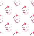Seamless pattern or tile cupcake background vector image vector image