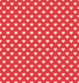 Seamless pattern red with hearts vector image vector image