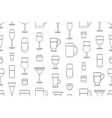 seamless pattern with alcoholic drinks glasses vector image vector image