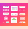 set icons on psychedelic background vector image