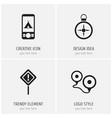 set of 4 editable trip icons includes symbols vector image vector image