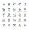 set of network and communication icons vector image vector image