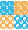 Smartphone pattern set colored vector image vector image