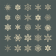 Snow flakes set 1 vector image vector image