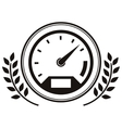 speedometer prize in monochrome with olive branch vector image vector image