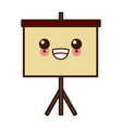 statistics presentation board kawaii cute cartoon vector image