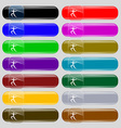 Summer sports Javelin throw icon sign Set from vector image vector image