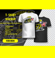 t-shirt mockup with american hot rod phrase in vector image vector image
