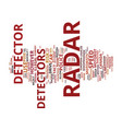 the car radar detector debate to legalize or not vector image vector image