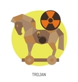 Trojan Horse Icon vector image