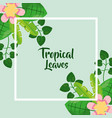 tropical leaves poster floral flower exotic vector image vector image