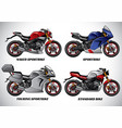 types of motorcycle part 1 vector image vector image