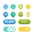 ui interface button play media internet isolated vector image