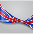 united kingdom wavy flag vector image vector image