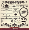 Vintage calligraphy set vector image vector image