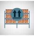 warehouse box fragil symbol vector image