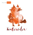 Watercolor cats vector image vector image