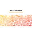 win award concept vector image vector image