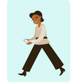 woman with mobile gadget vector image