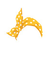 yellow female bandana with white dotted pattern vector image vector image