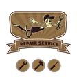 repair shop emblem vector image