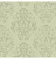 Grunge green vintage floral seamless pattern vector image