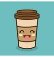 cartoon cup plastic coffee vector image