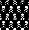 Skull and crossbones pattern vector image