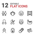 12 kid icons vector image vector image