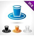 a disposable tableware saucer vector image vector image