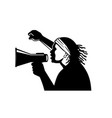african american activist with megaphone vector image