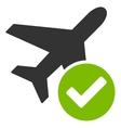 Aircraft Ok Icon vector image vector image