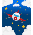 An airplane at the sky vector image