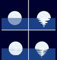 background set sea full moon at night vector image vector image