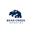 bear creek mount logo icon vector image vector image